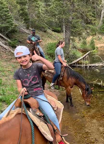 Family horseback riding tours Lava Hot Springs Idaho