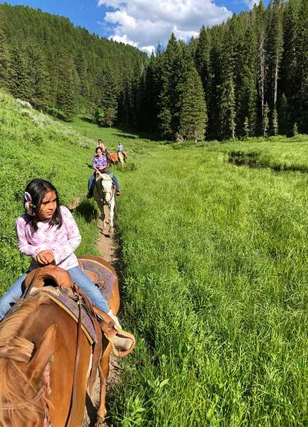 Youth group horseback riding tours Lava Hot Springs Idaho